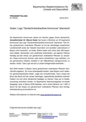 Pressemitteilung vom 09.02.2012 - Gemeinde Wackersberg