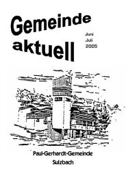 GEMEINDE aktuell-juni-juli-2005 - Paul-Gerhardt-Gemeinde Sulzbach