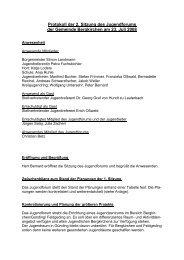 Protokoll der 2. Sitzung des Jugendforums der Gemeinde Bergkirchen ...