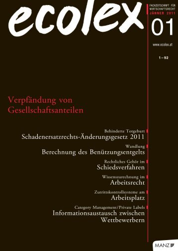 Wissenszurechnung im Arbeitsrecht, ecolex 2011 (pdf) - Fellner ...