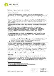 Factsheet Alcopops und andere Premixes - Sucht Schweiz