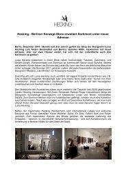 Hecking - Berliner Konzept-Store erweitert Sortiment unter neuer ...