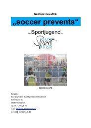"""soccer prevents"" - Jugendserver Niedersachsen"