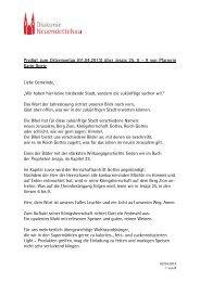 Predigt zum Ostermontag (01.04.2013) über Jesaja 25, 6 - 9 von ...