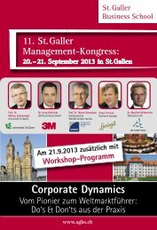Corporate Dynamics - St. Galler Business School