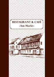 Speisekarte - Restaurant & Café am Markt