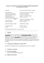 Verslag vergadering 20 maart 2002
