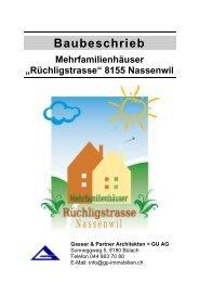 Baubeschrieb - Gasser & Partner Architekten + GU AG
