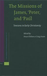 The Missions of James, Peter, and Paul: Tensions in Early Christianity