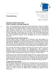 Pressebericht DHV-Schau 2011 - Deutscher Holstein Verband e.V.