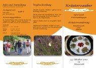 Infos und Anmeldung 24. Oktober 2010 in Elsenroth 9,50 €