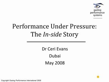 Performance Under Pressure: The Inside Story