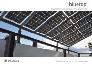 Prospekt Bluetop Terrassendächer und Carports - Solarglas