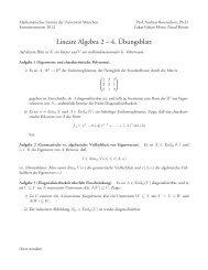 Blatt 4 - Mathematisches Institut