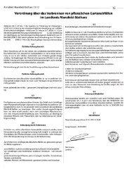 Verordnung über das Verbrennen von pflanzlichen Gartenabfällen