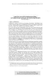 Soziale Motivation und Persönlichkeitsentwicklung - KOPS ...