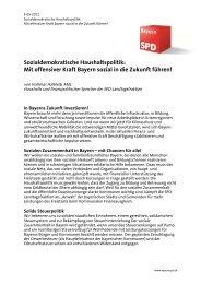 Sozialdemokratische Haushaltspolitik: Mit offensiver ... - BayernSPD