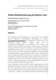 Online-Risikokartierung als Diskurs-Tool