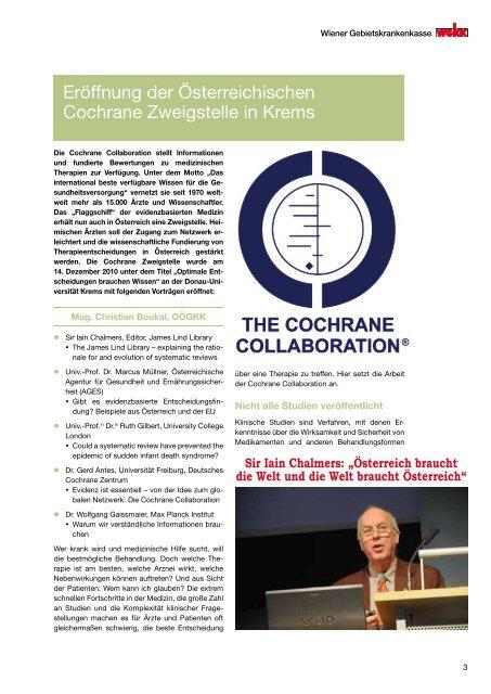 Therapie Info April 2011 - Wiener Gebietskrankenkasse
