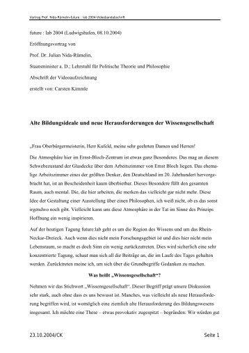 PDF-Datei, 80 KByte - Fakultät für Philosophie, Wissenschaftstheorie