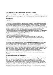 Thilo Weichert: Der Skandal um den Datenhandel und seine Folgen