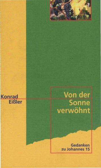 Konrad Eißler Von der Sonne verwöhnt