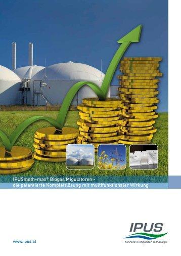 IPUSmeth-max® Biogas Migulatoren - die patentierte ...