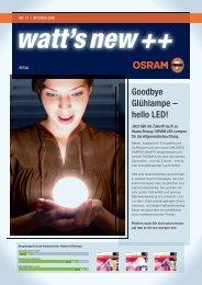 Goodbye Glühlampe – hello LED! - Osram