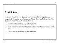 6 Quicksort - TU Bergakademie Freiberg
