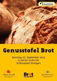 Veranstaltung: Genusstafel Brot - DGE