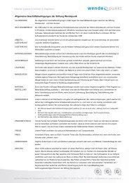 Allgemeine Geschäftsbedingungen der Stiftung ... - firma-web
