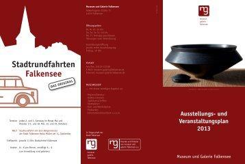 und Veranstaltungsplan 2013 - Museum Galerie Falkensee