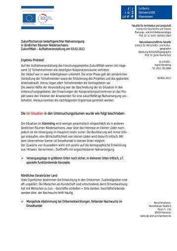 Ergebnisse - Institut für Geschichte und Theorie der Architektur