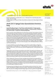 eltefa 2013: Spiegel einer dynamischen Entwick ... - Messe Stuttgart