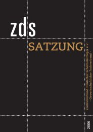 SATZUNG - ZDS Oberbayern