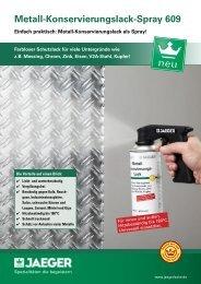 Metall-Konservierungslack-Spray 609 - Paul Jaeger GmbH & Co. KG