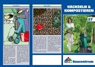 Häckseln & kompostieren