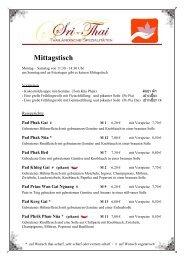 Mittagsteller - Sri-Thai