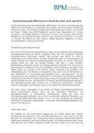 Zusammenfassung BPM Forum - BPM - Bundesverband der ...