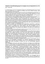 Allgemeine Geschäftsbedingungen für Anzeigen der tip ... - Tip Berlin