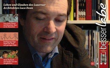 Leben und Glauben des Luzerner Architekten Luca Deon - TextLive