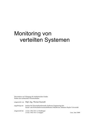 Monitoring von verteilten Systemen - Software Engineering