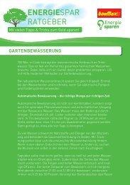 ENERGIESPAREN 2013 - Gartenbewässerung.PDF - bauMax