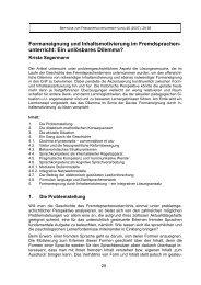 Formaneignung und Inhaltsmotivierung im Fremdsprachen- unterricht