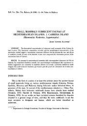 SMALL MAMMALS SUBRECENT FAUNAS AT MEDITERRANEAN ...