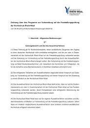 Ordnung über das Programm zur Vorbereitung auf die ...