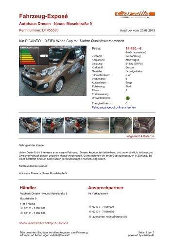 Kia Picanto - Neuwagen - carzilla.de