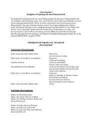 """Schulpastorale Impulse zur Adventszeit """"Sternstunden"""""""
