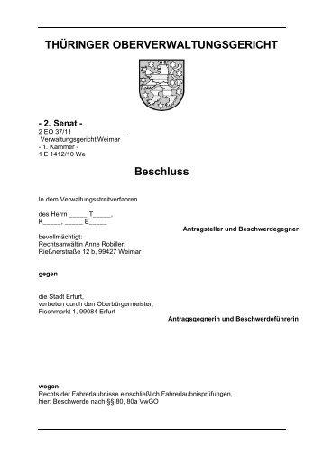 Fehlendes Trennungsvermögen nach Cannabiskonsum - Thüringer ...