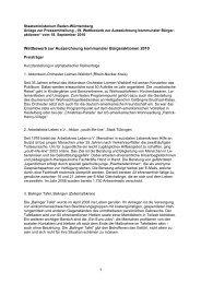 Auszeichnung kommunaler Bürgeraktionen 2010 - Baden ...